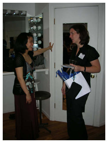 Violinist Jasmine Lin in conversation after the performance